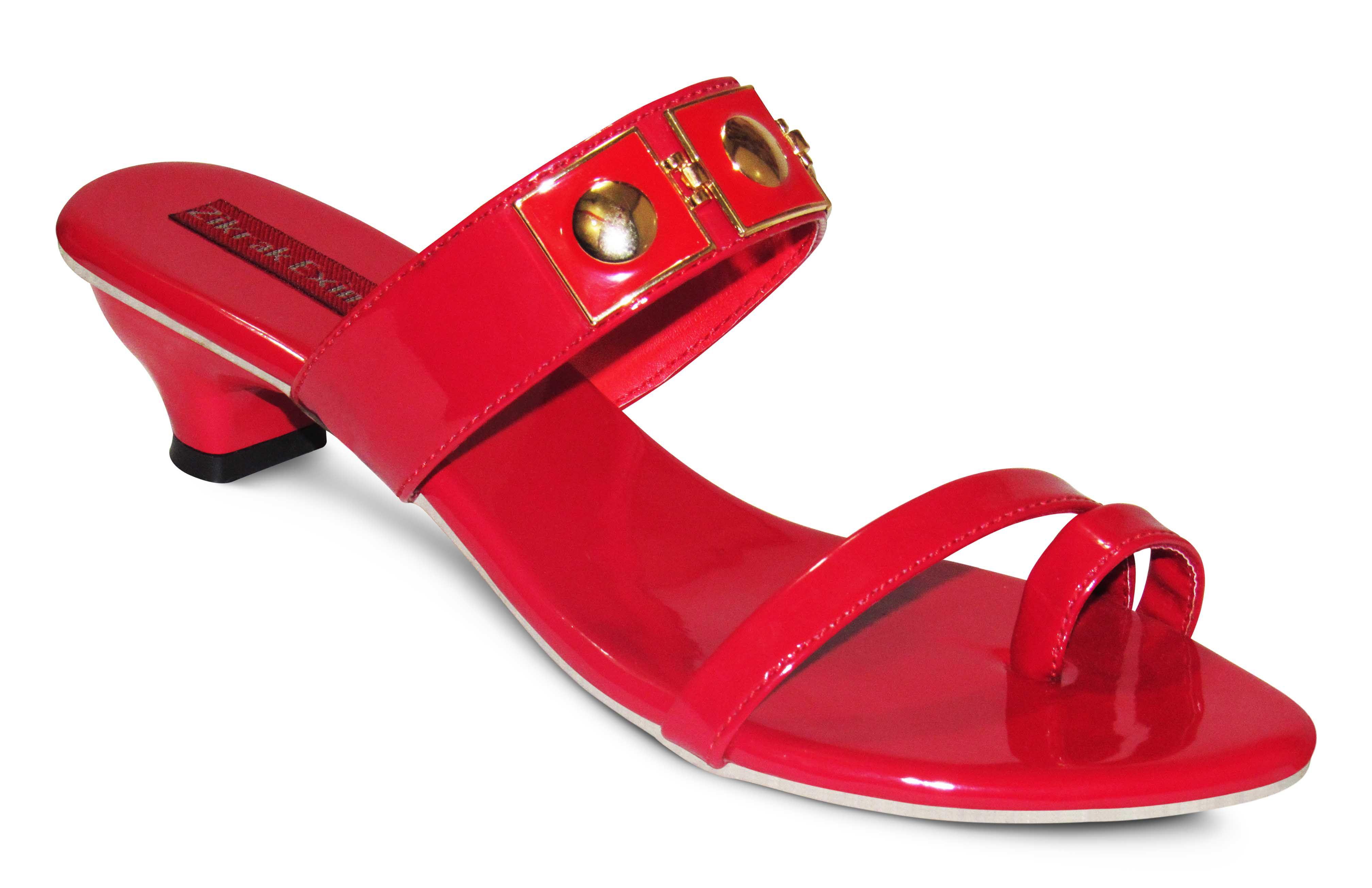 Zikrak Exim Red Block Heels