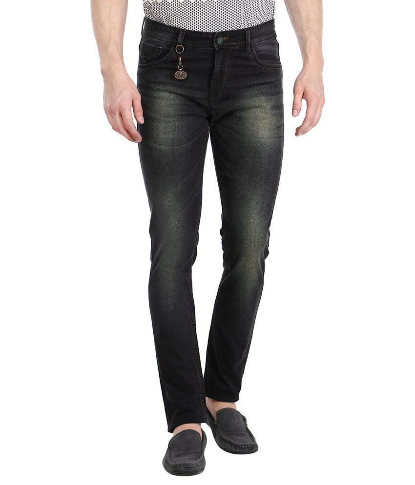 Fever Green Regular Fit Solid Jeans