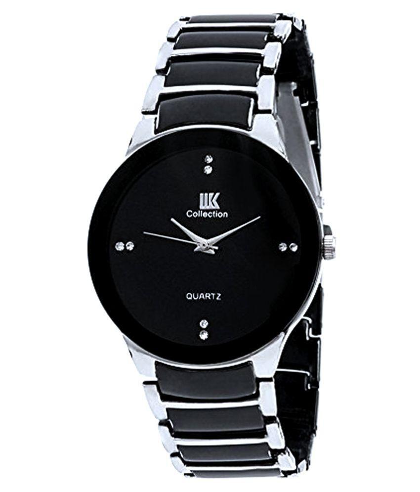 Iik Collection Silver Black Analog Watch Buy Iik