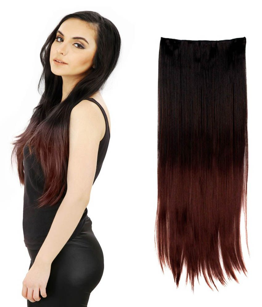 Out Of Box Highlighted Bottom Straight Synthetic Hair Extension