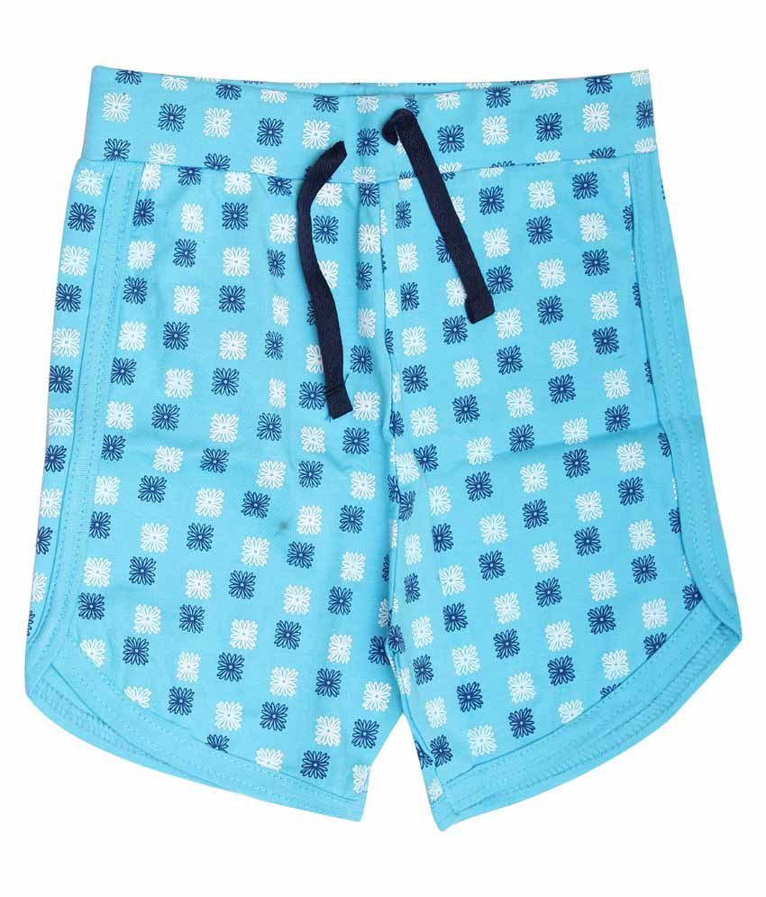 Babeezworld Blue Cotton Shorts