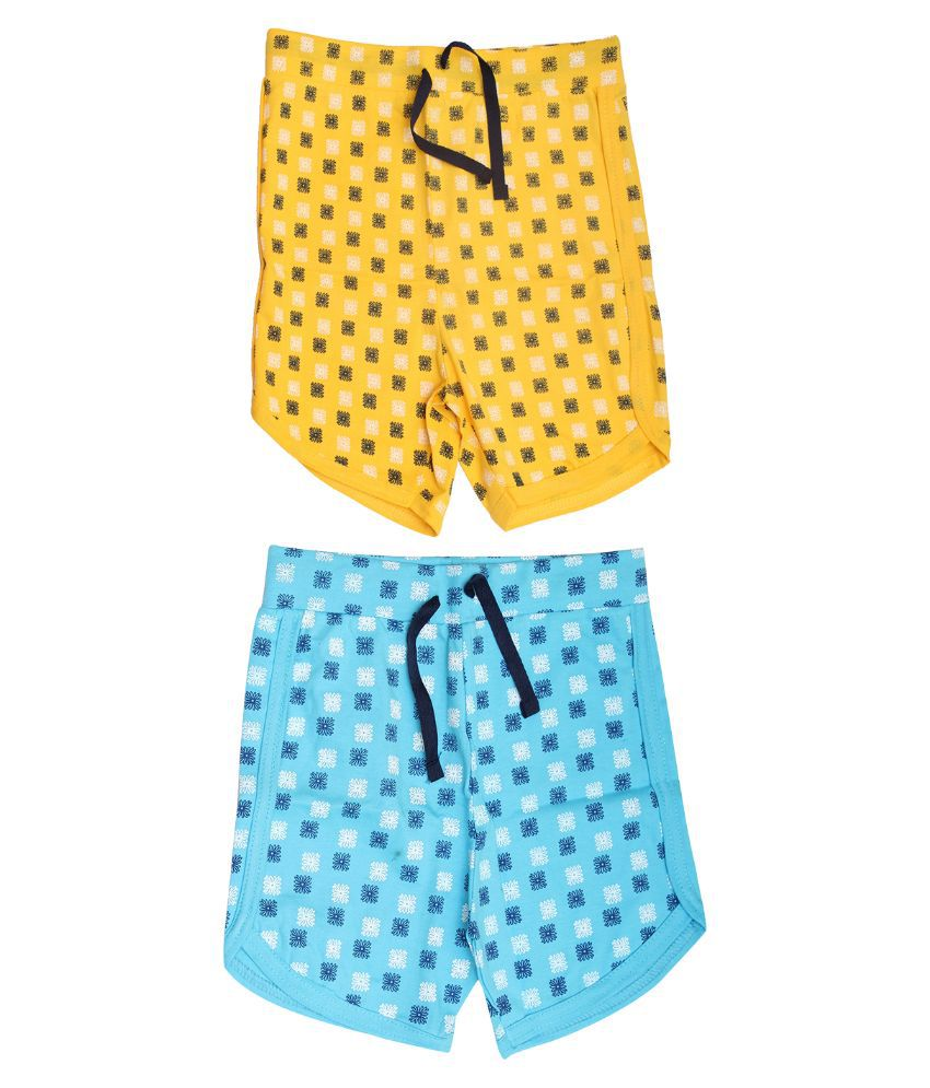 Babeezworld Multicolour Cotton Shorts - Pack of 2