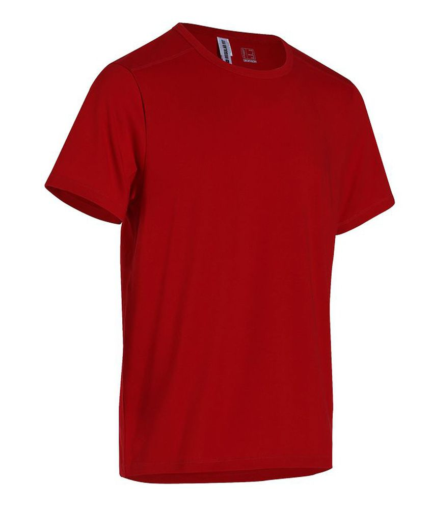 DOMYOS Comf Reg Rouge Men's Fitness T-Shirt By Decathlon