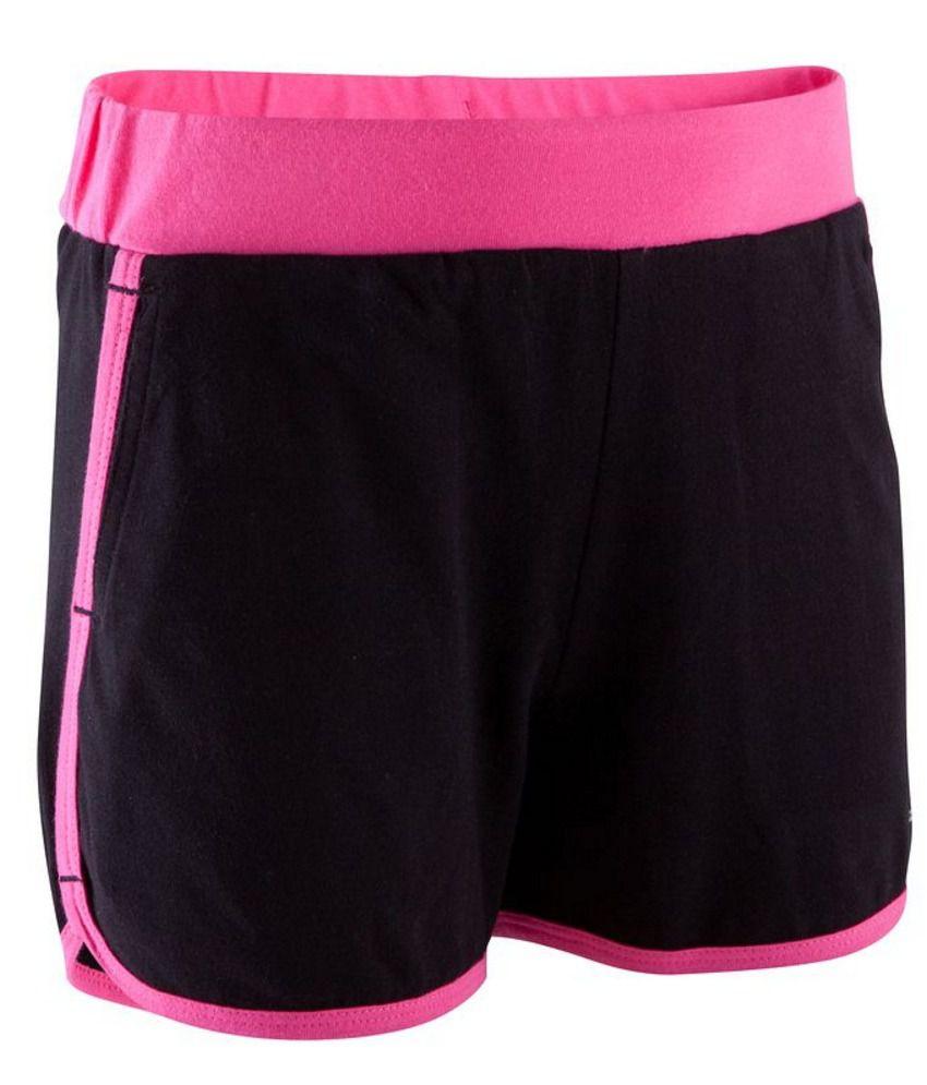 DOMYOS Comfort Kids Girls Fitness Shorts By Decathlon