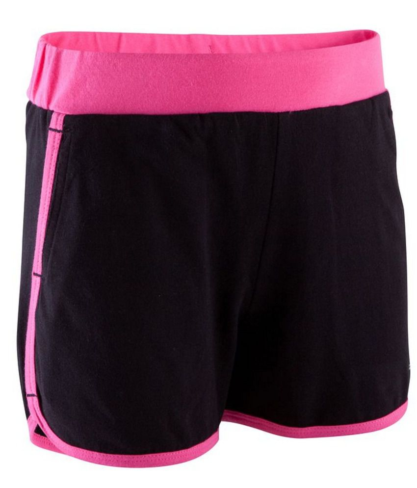 DOMYOS Comfort Kids Girls Fitness Shorts By Decathlon