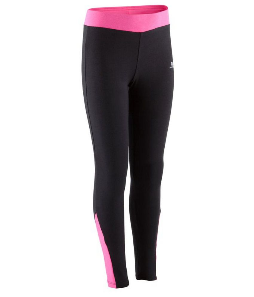 DOMYOS Comfort Plus Kids Girls Fitness Leggings By Decathlon