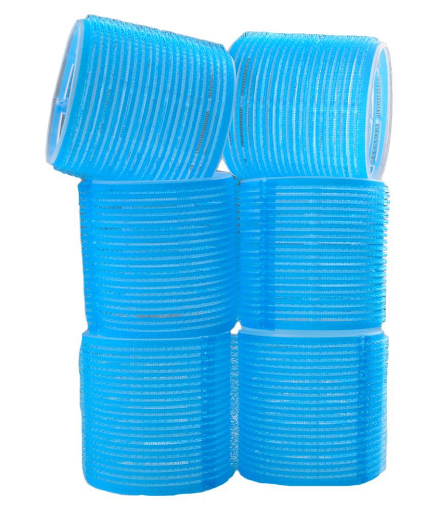 Majik Blue Hair Velcro Rollers - Set of 6: Buy Online at Low