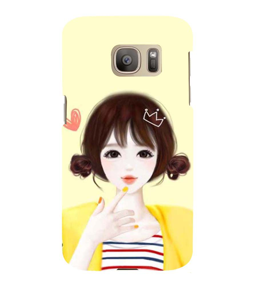 official photos 1666d 65a31 Printvisa Yellow Jacket Cute Girl Back Case Cover for Samsung Galaxy ...
