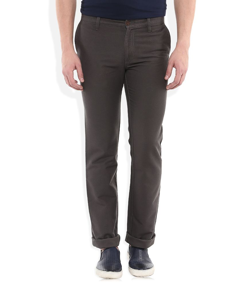 Indian Terrain Grey Regular Fit Chinos