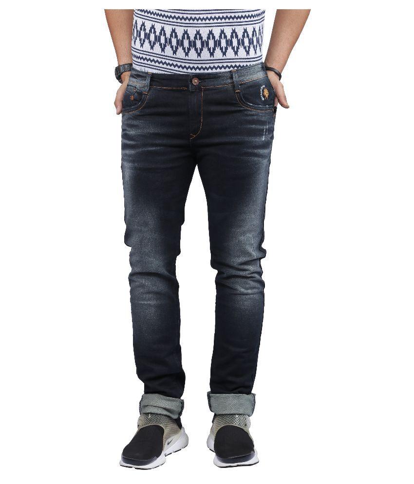 Nostrum Jeans Black Slim Fit Washed Jeans