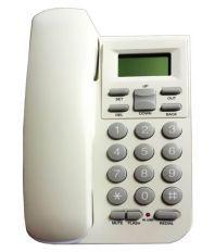 Inovera Landline caller id phone Corded Landline Phone White