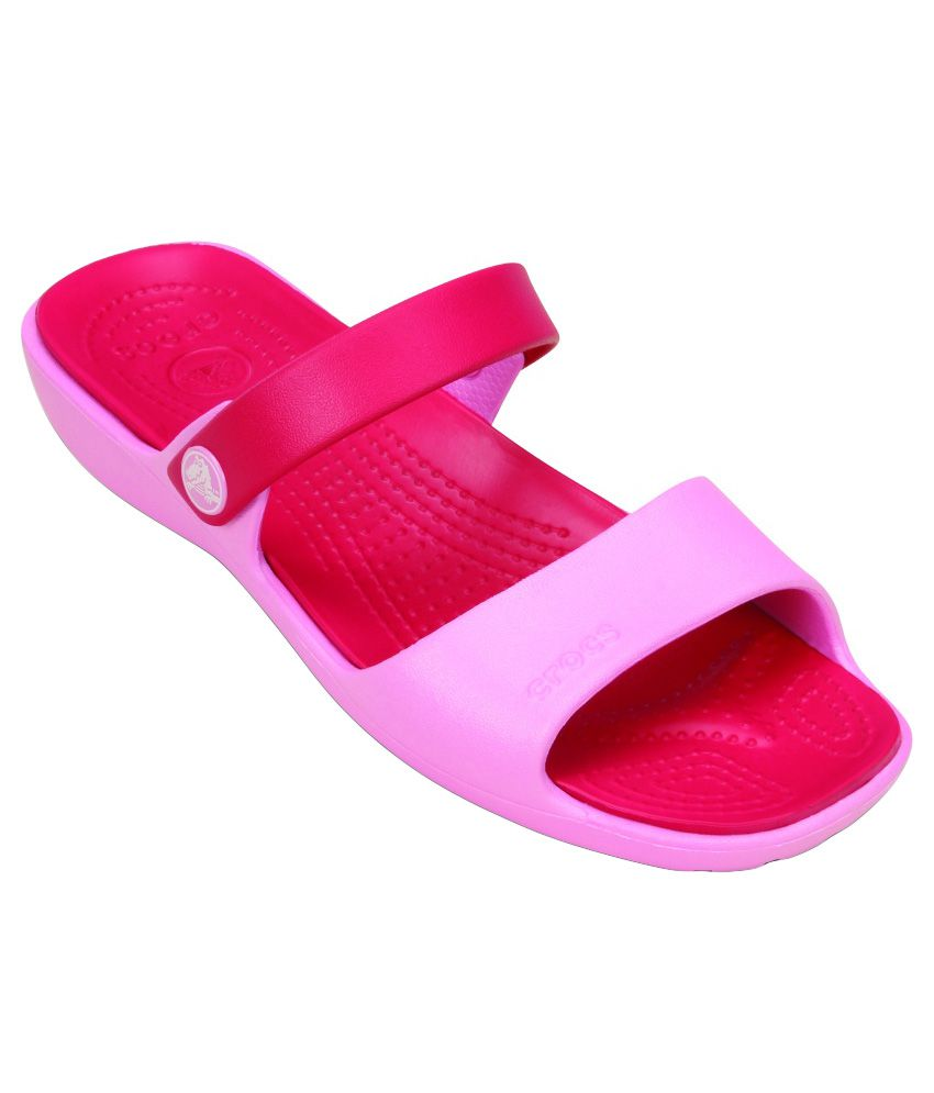 Crocs Relaxed Fit Pink Slippers