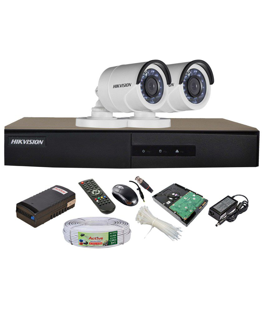 Hikvision-DS-7204HGHI-SH-4CH-Dvr,-2(DS-2CE16C2T-IRP)-Bullet-Camera-(Mouse,-Remote,-1TB-HDD,Cable,-Bnc&Dc-Connectors,Power-Supply)