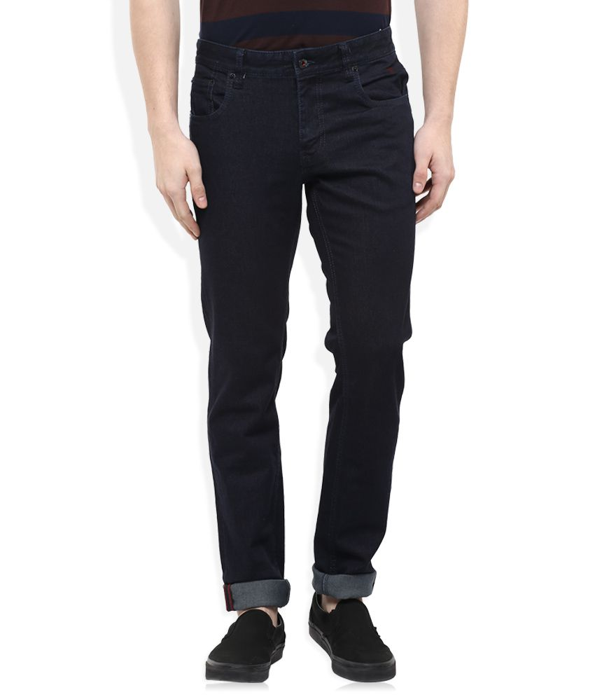 Indian Terrain Black Slim Fit Jeans