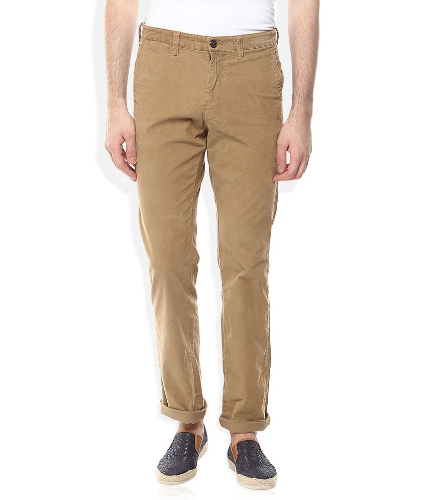 Indian Terrain Khaki Slim Fit Chinos