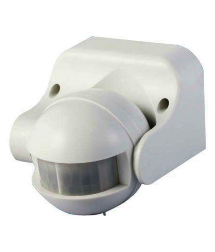 Isense White PVC Wall Mount Motion Sensor-Pack of 3