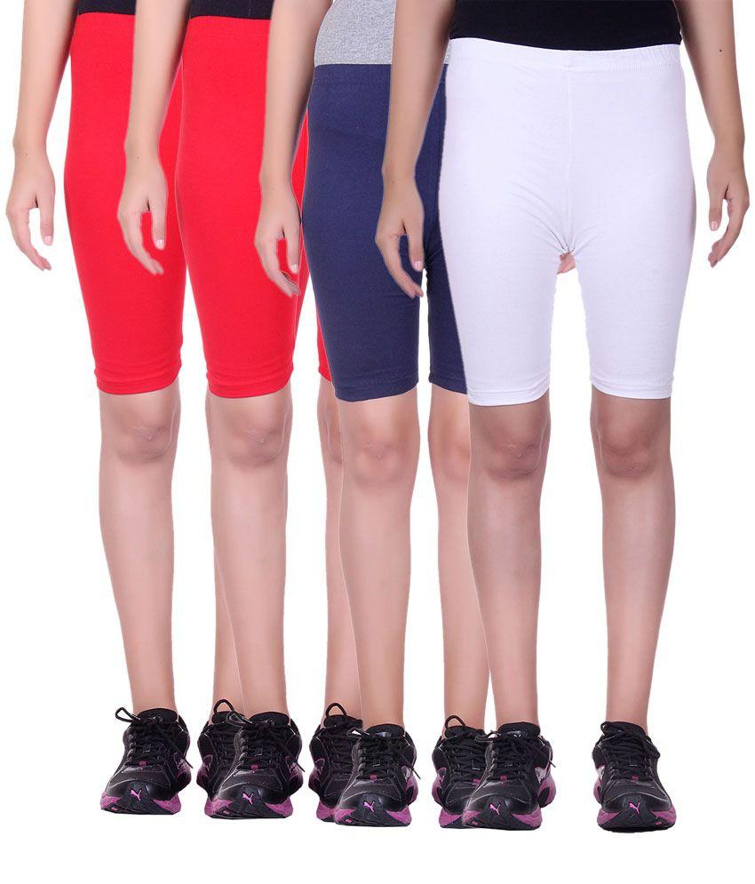 Alisha Multicolored Cotton Shorts (Pack of 4)