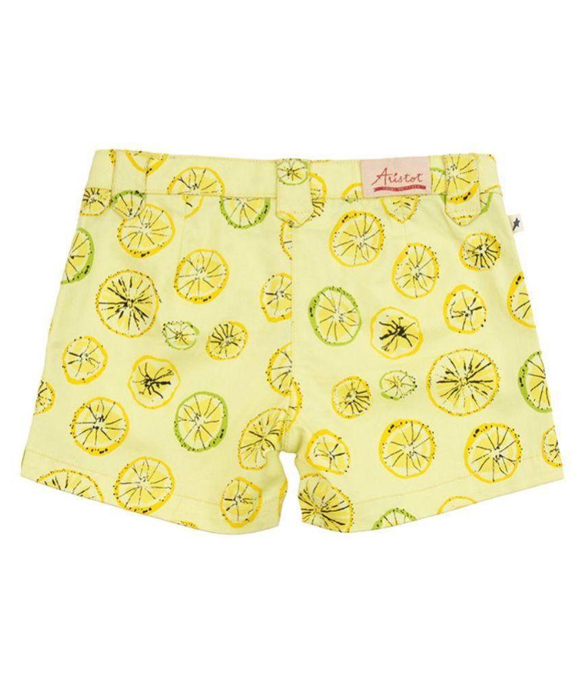 Aristot Yellow Shorts For Girls for kids girls