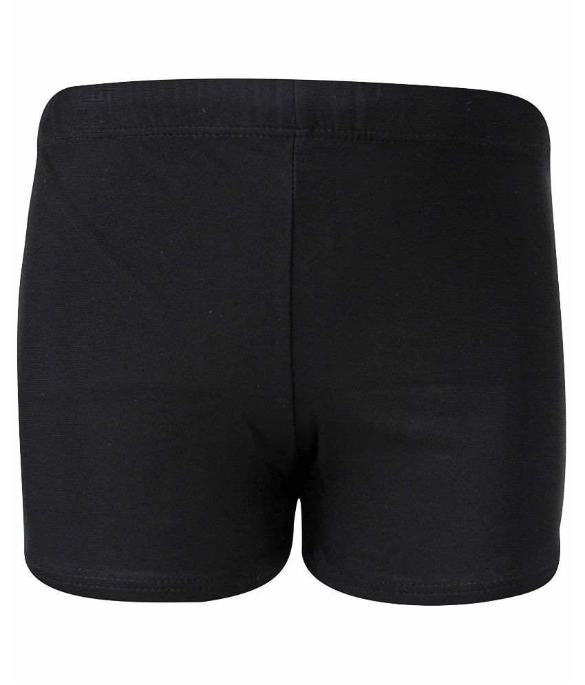 Bosky Black Polyester Swimwear Trunk for Boys