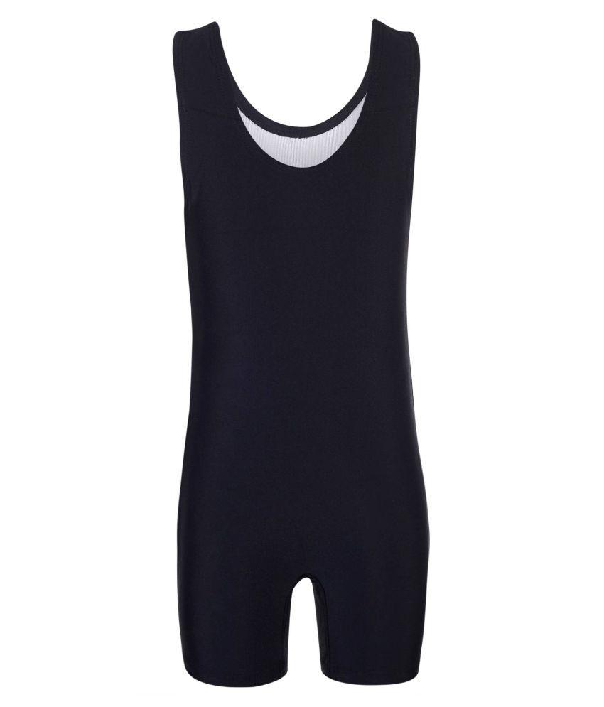 Bosky Black Sleeveless Swimsuit/ Swimming Costume
