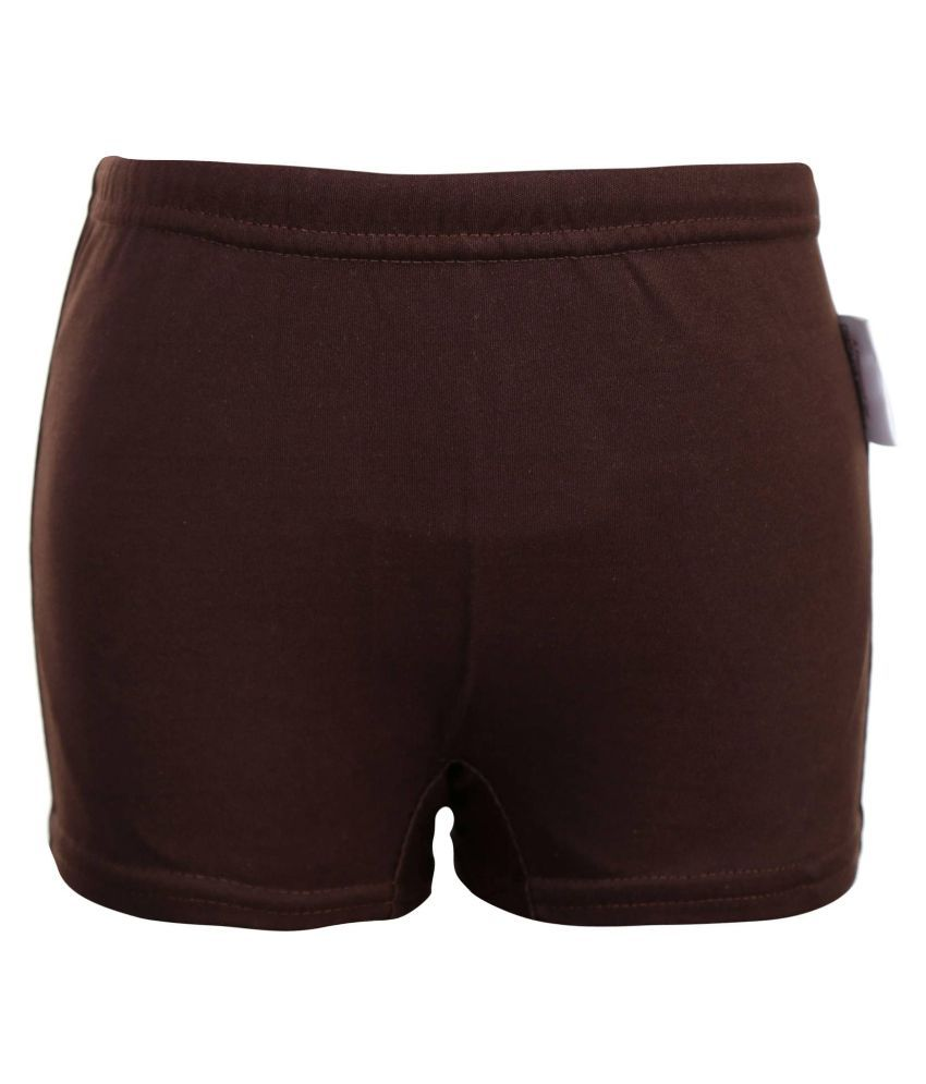 Bosky Brown Polyester Swimwear Trunk for Boys/ Swimming Costume