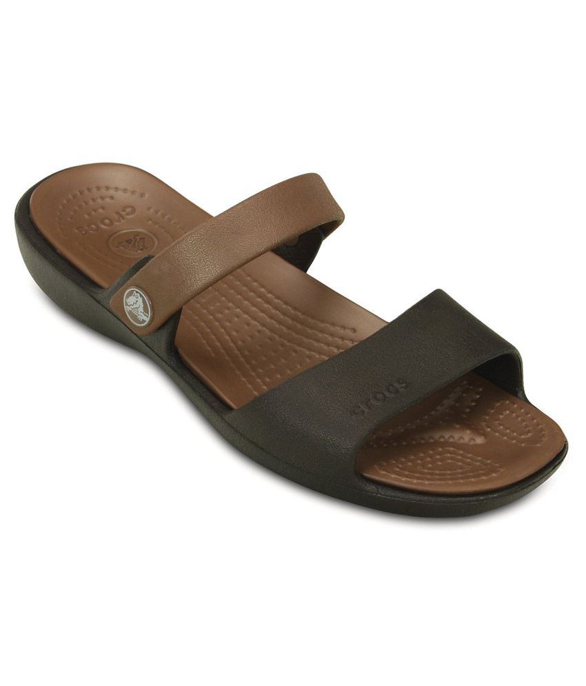 Crocs Brown Slippers & Flip Flops Relaxed Fit