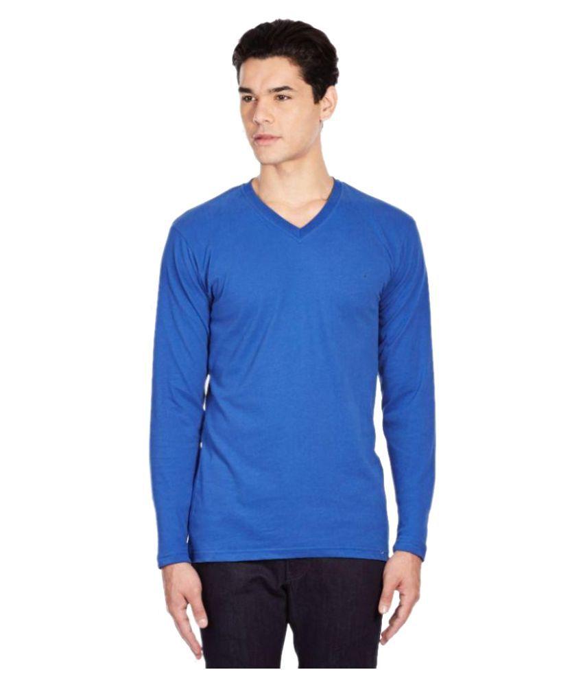 Dewangan Blue V-Neck T Shirt