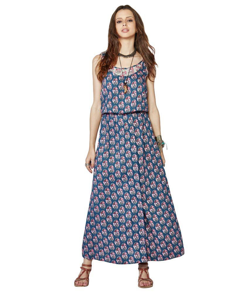 76cace3ef9a Global Desi Multicoloured Liva Printed Maxi Dress Price in India ...