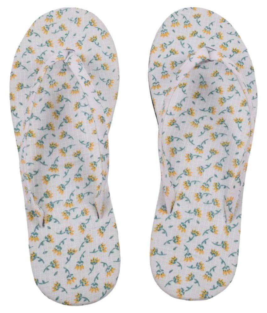 HVE White Flip Flops