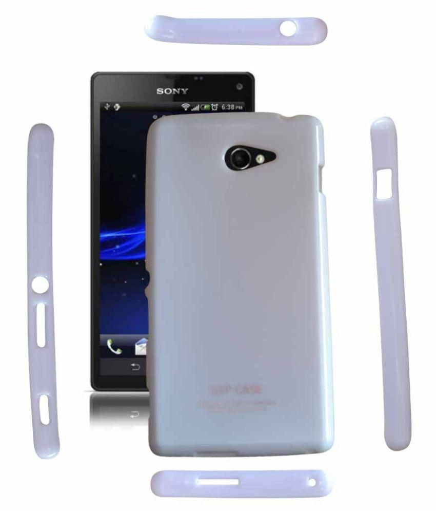 pretty nice 6d9f9 70ffc Sony Xperia M2 Back Case Cover - Plain Back Covers Online at Low ...