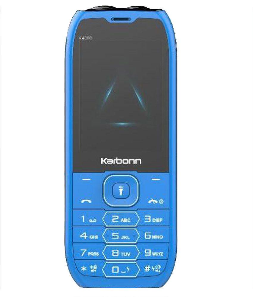 Karbonn K4000 ( Below 256 MB Blue+Black )