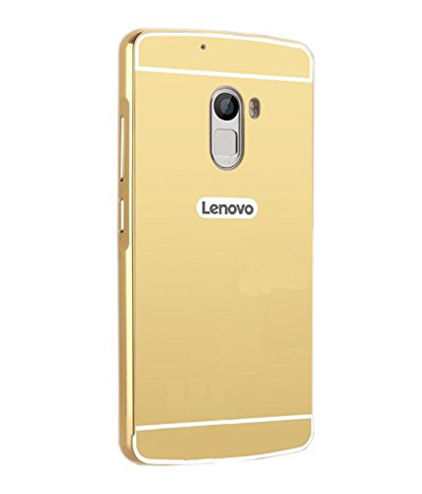 buy online 65bfc 13e00 Lomoza Mirror Back Cover for Lenovo K4 Note - Golden