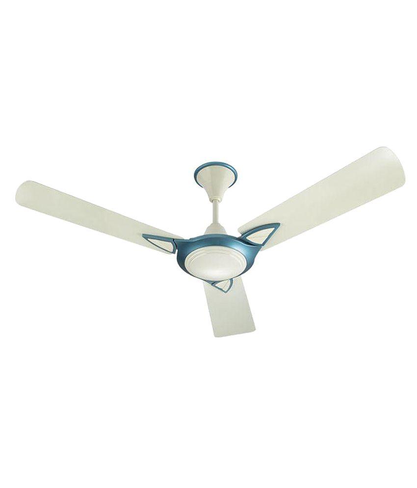 Bajaj 48 Leatrim HS Ceiling Fan Ocean Pearl (Off white-blue)