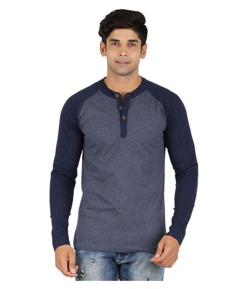 LivUP Navy Henley T Shirt