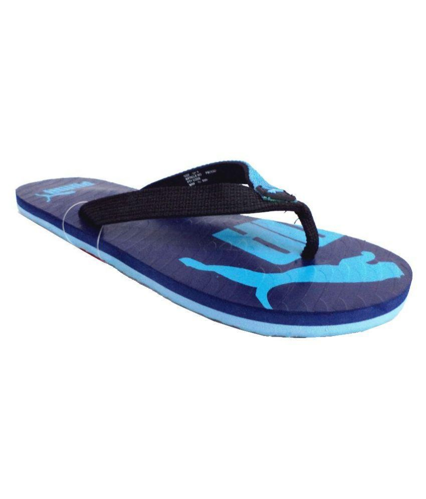 puma blue flip flops snapdeal price sports shoes deals at. Black Bedroom Furniture Sets. Home Design Ideas