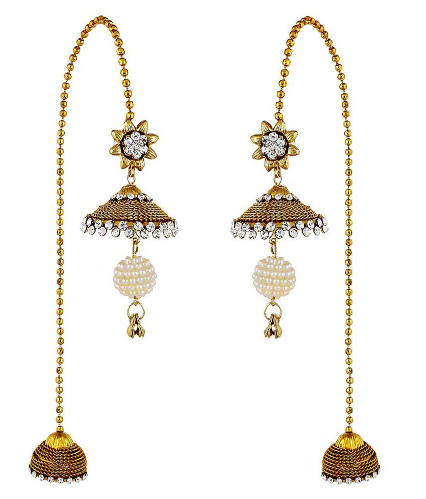 Hs Jewels Traditional Kashmiri Style Long Hanging Earring For Las