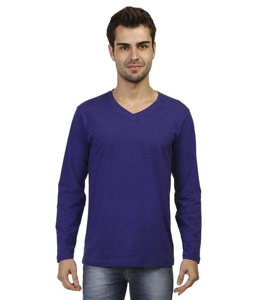 Aliep Purple V-Neck T Shirt