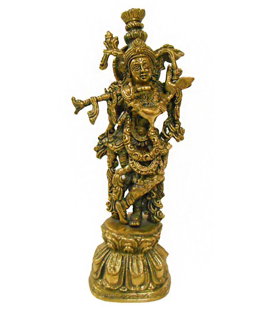 Handicraftscart Glossy Brass God Idol