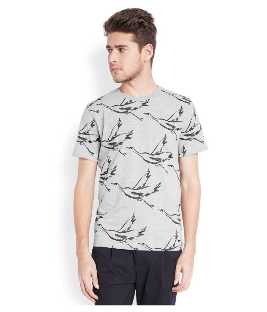 Parx Grey Round T Shirt