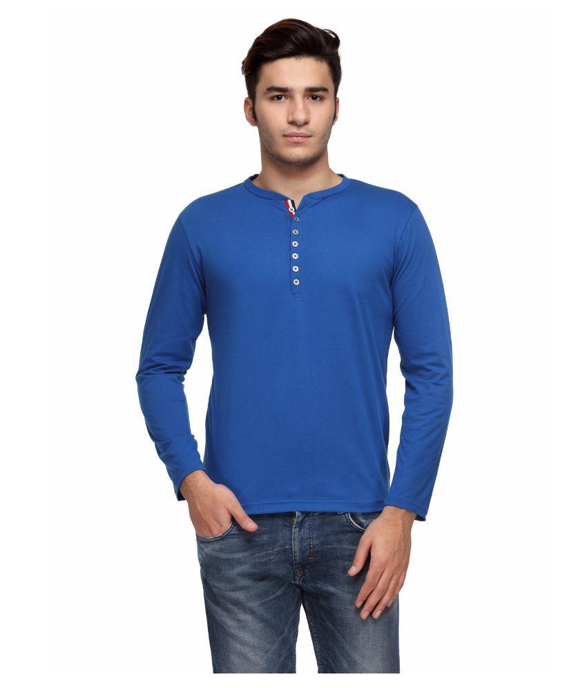 TSX Blue Henley T Shirt
