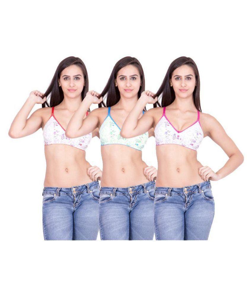 Body Liv Multi Color Poly Cotton Bra