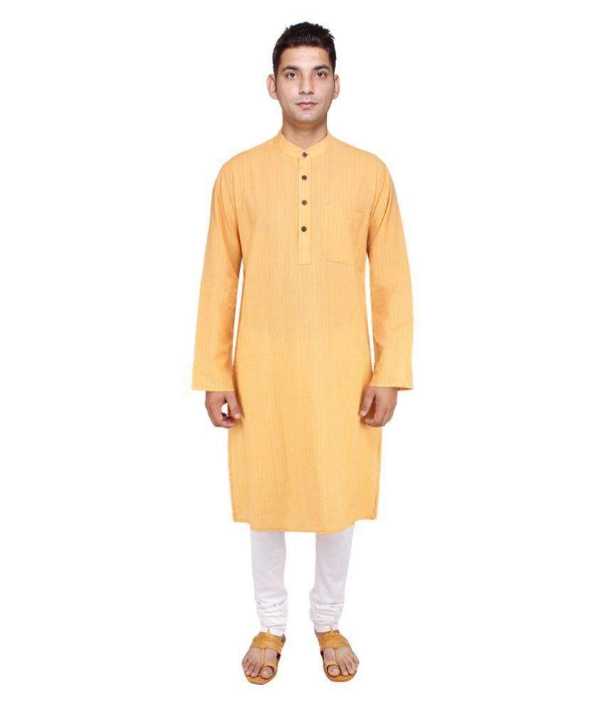 8d71e628d7 Cotton Collection 100Percent Fine Handloom Cotton Yellow Color Men's Long  Kurta - Buy Cotton Collection 100Percent Fine Handloom Cotton Yellow Color  Men's ...