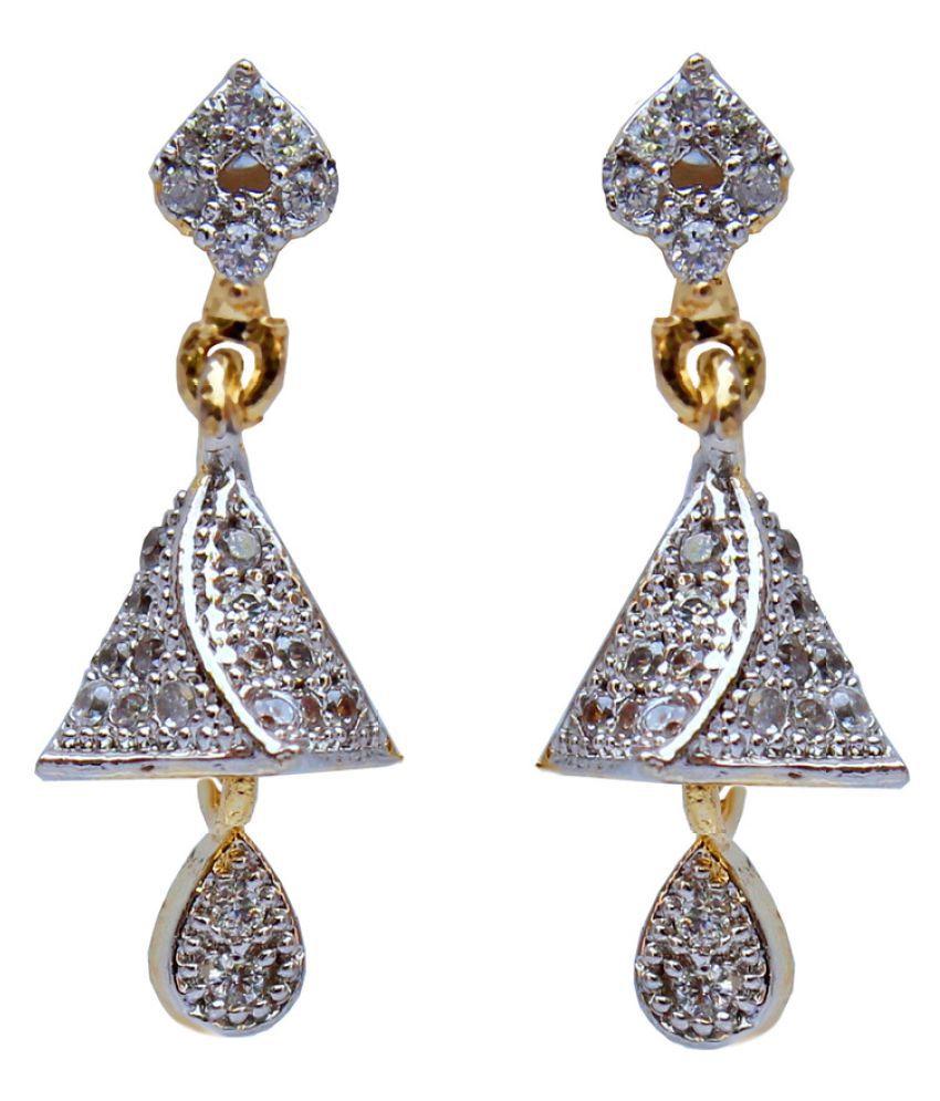 Lucky Jewellery White Jhumki