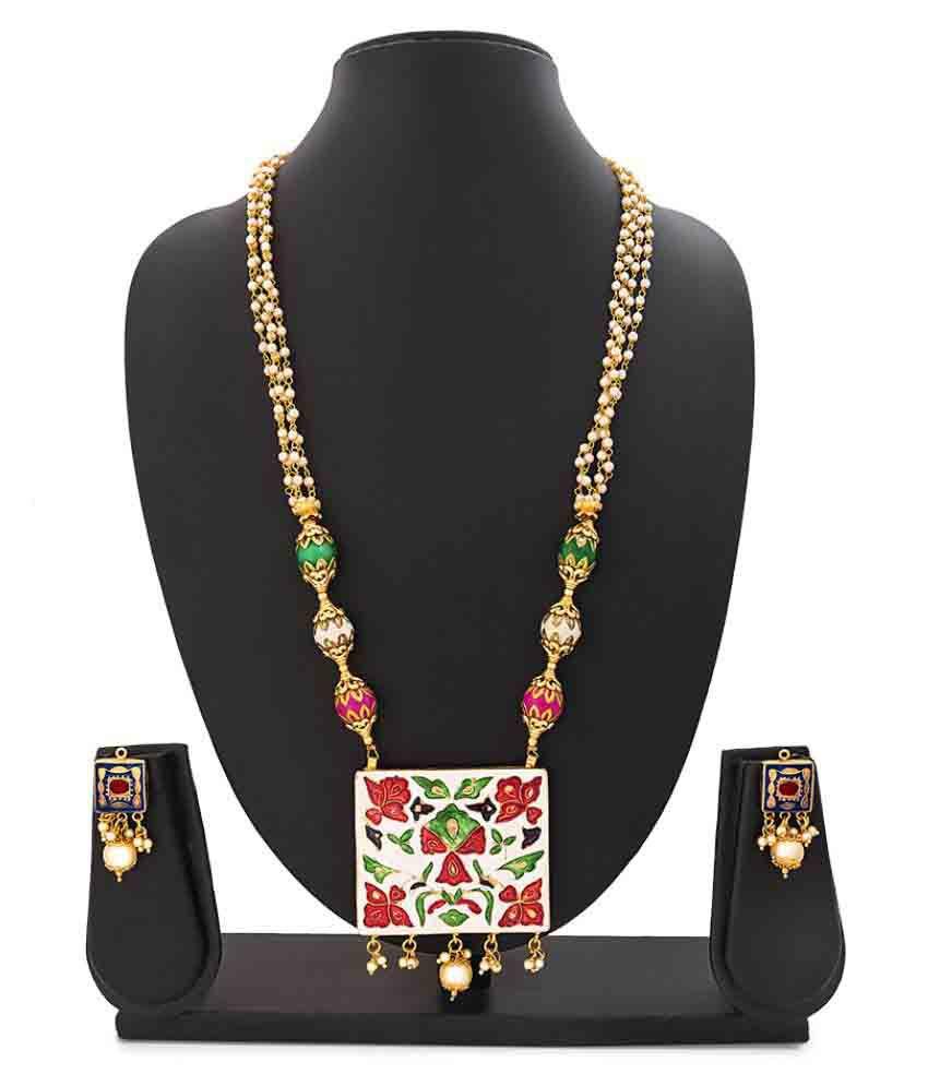 Reeva Fashion Jewellery Multicolour Necklaces Set