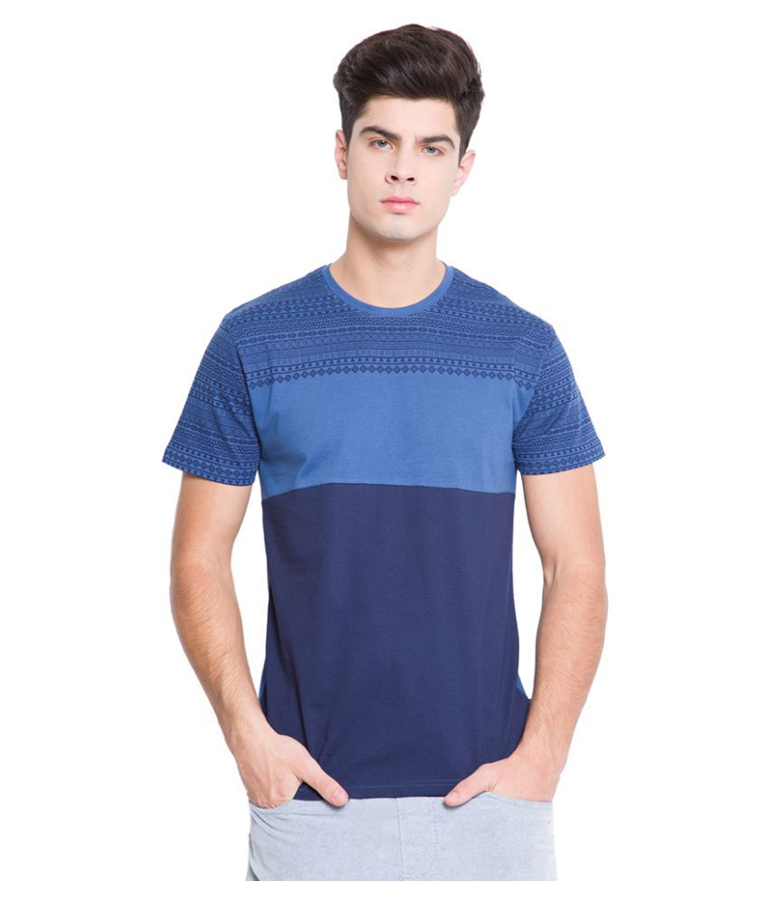 Highlander Blue Round T-Shirt