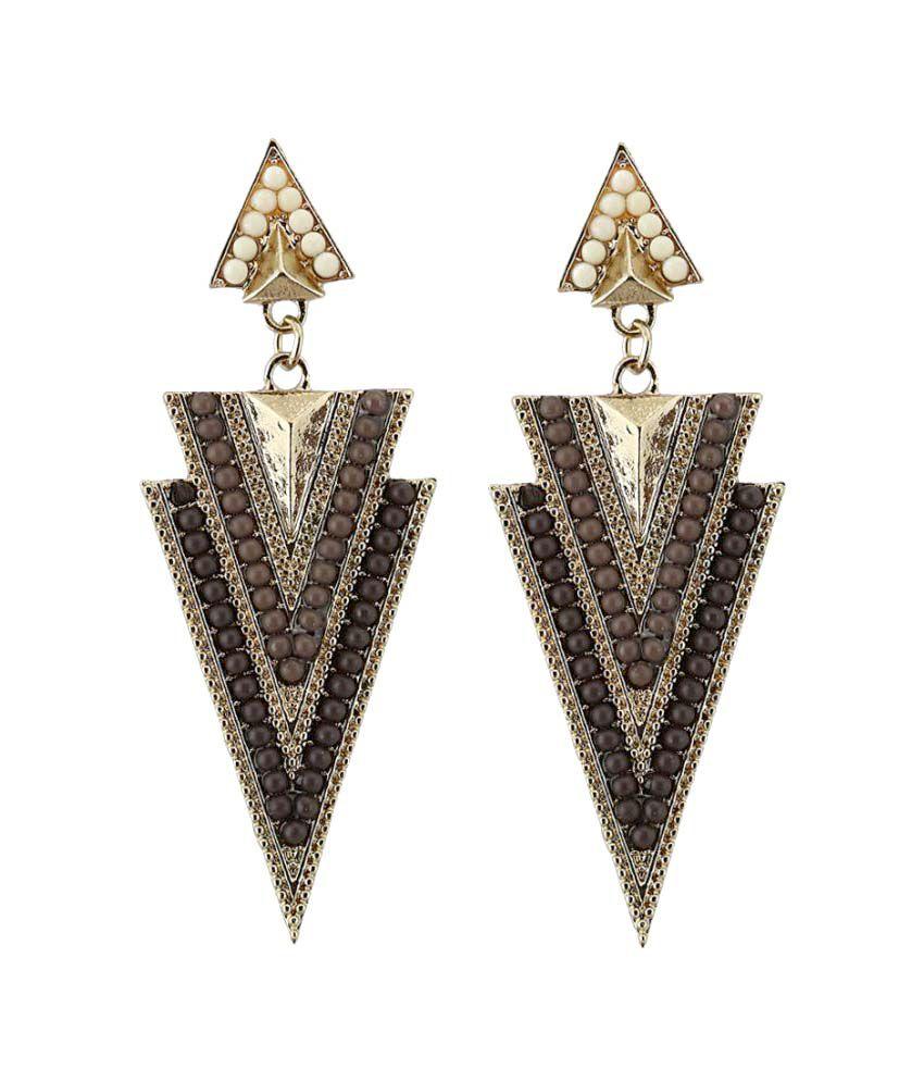 Rizir Fashion vintage golden drop earrings