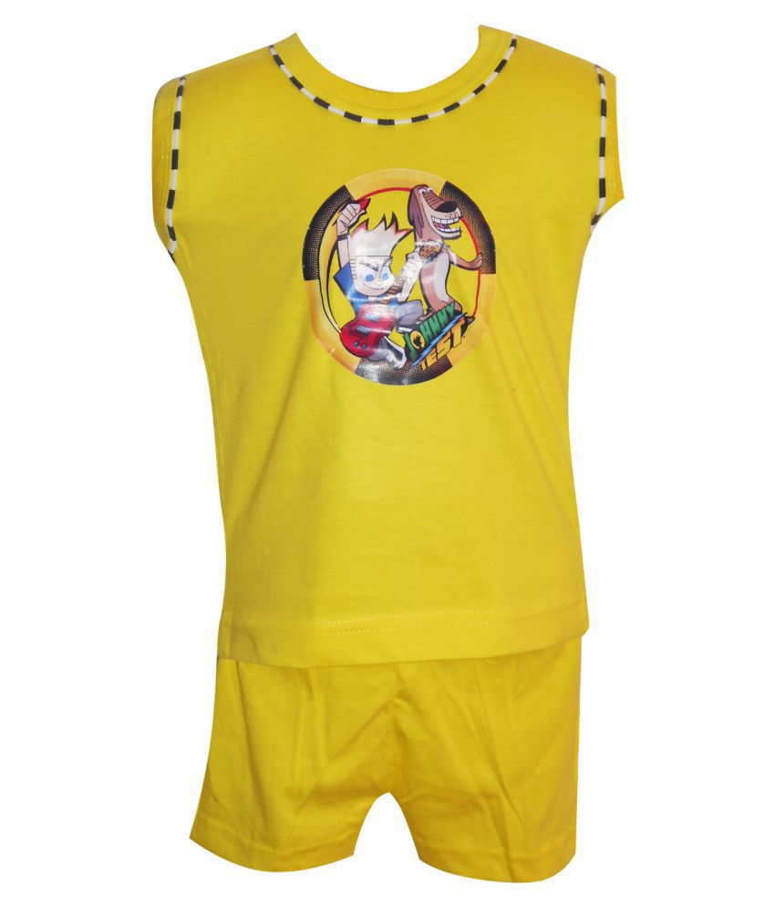 Awesome Kidz Printed Vest and Shorts Combo Set