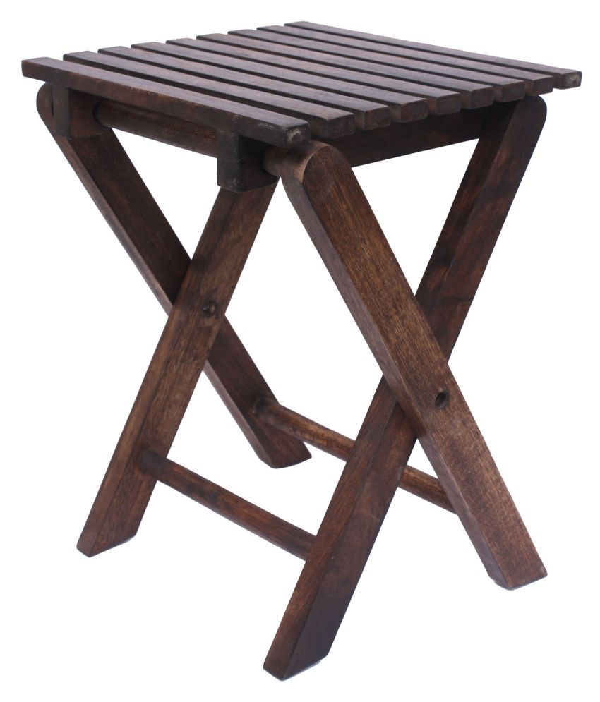 Home Sparkle Siyon Solid Wood Folding Stool cum Table