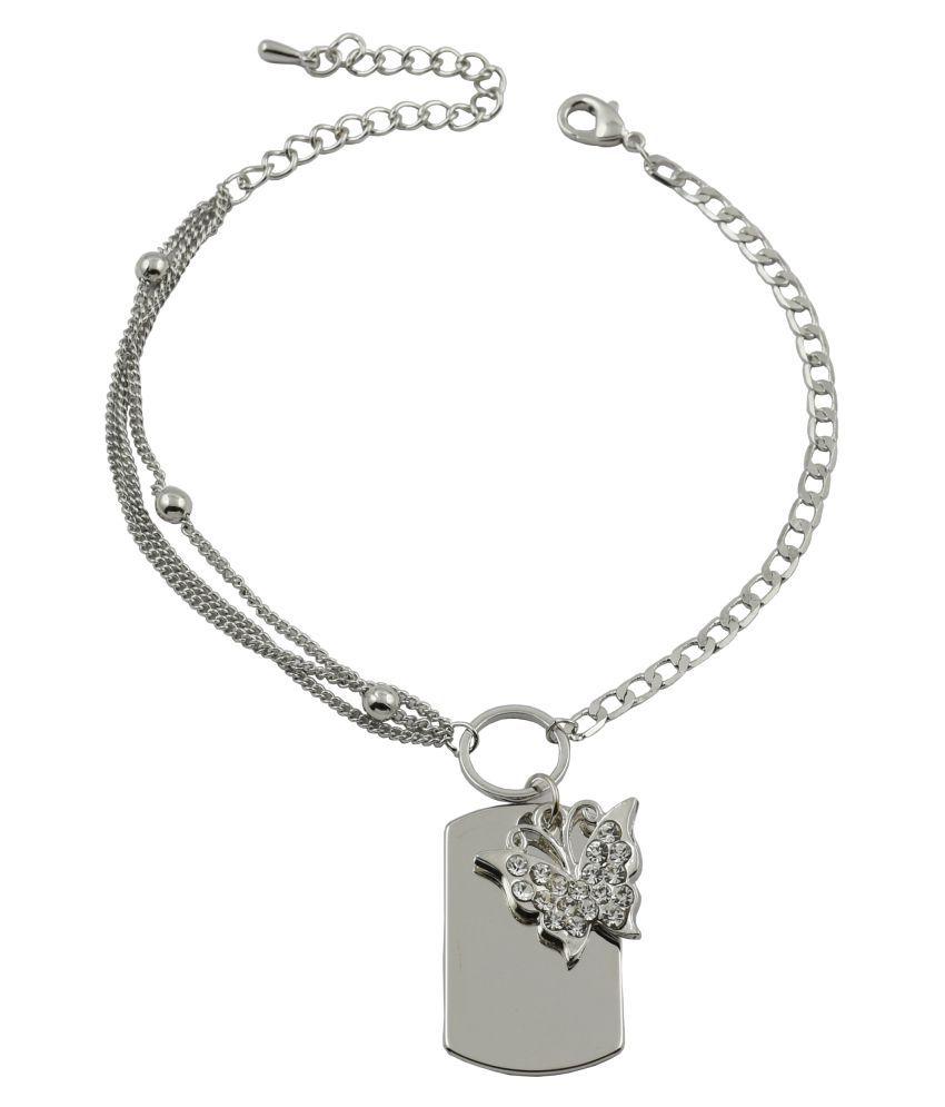 High Trendz Silver Alloy Bracelet