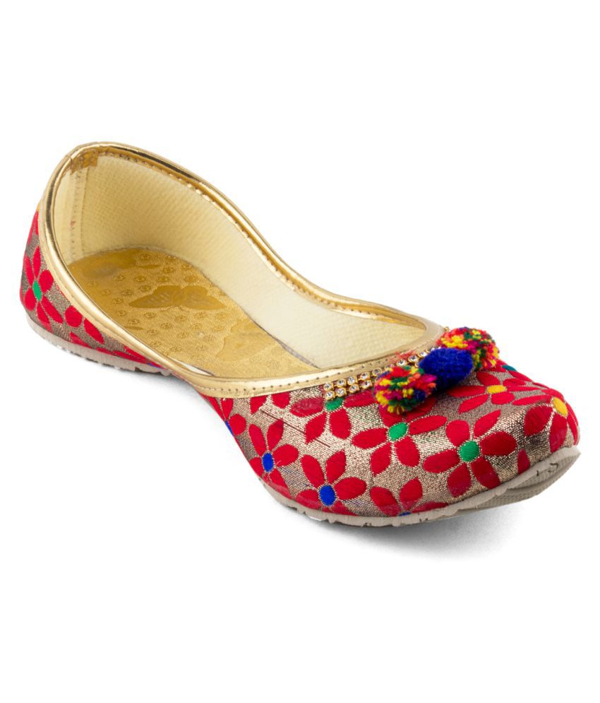Tashi Multi Color Flat Ethnic Footwear